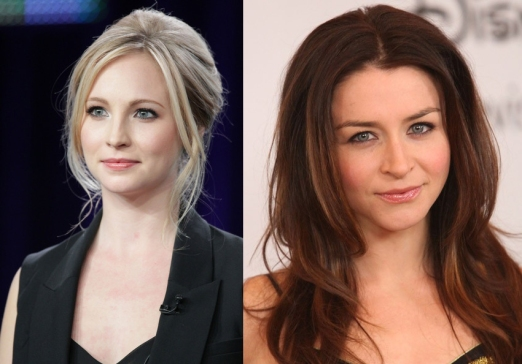 Candice Accola & Caterina Scorsone
